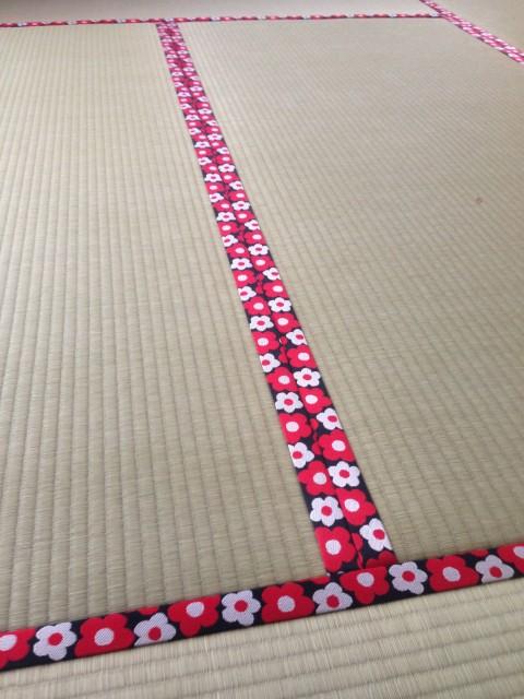 かわいい花柄の畳縁